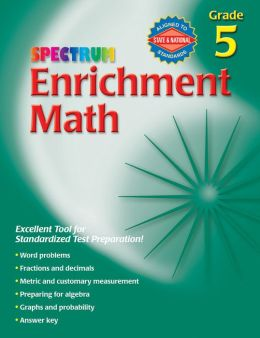 Spectrum Enrichment Math, Grade 5