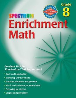 Spectrum Enrichment Math Grade 8