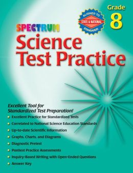 Spectrum Science Test Practice, Grade 8