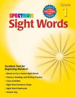 Spectrum Sight Words, Grade 1