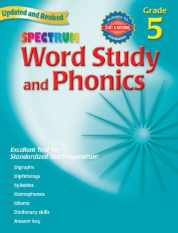 Spectrum Word Study and Phonics, Grade 5