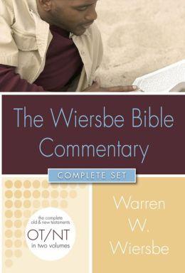 Wiersbe Bible Commentary 2 Vol. Set w/ CD ROM