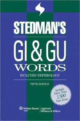 Stedman's GI & GU Words