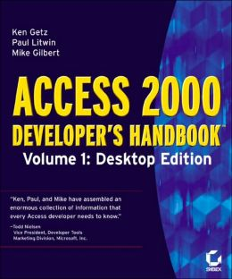 Access 2000 Developer's Handbook