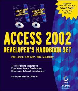 Access 2002 Developer's Set (Developer's Handbook Series)