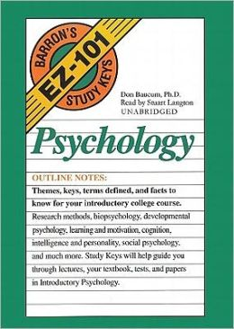 Barron's EZ-101 Study Keys: Psychology