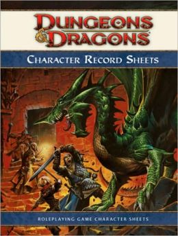 Dungeons & Dragons Character Record Sheets