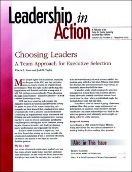 Leadership in Action, No. 2, 1999
