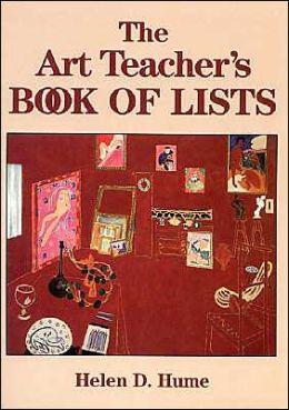 Art Teacher's Book of Lists