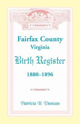 Fairfax County, Virginia, Birth Register