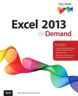 Excel 2013 On Demand