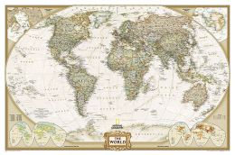 World Antique Laminated Wall Map