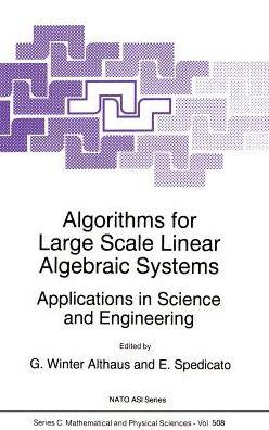 Algorithms for Large Scale Linear Algebraic Systems: Applications in Science and Engineering
