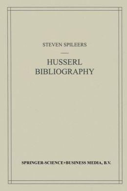 Edmund Husserl Bibliography