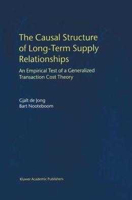 The Causal Structure of Long-Term Supply Relationships: An Empirical Test of a Generalized Transaction Cost Theory