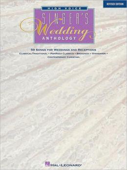 Singers Wedding Anthology - High Voice