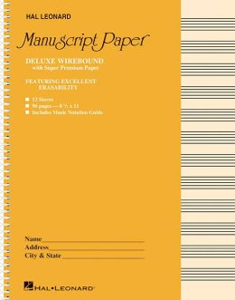 Deluxe Wirebound Super Premium Manuscript Paper (Gold Cover)