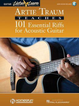 Artie Traum Teaches 101 Essential Riffs for Acoustic Guitar (Book. & CD)