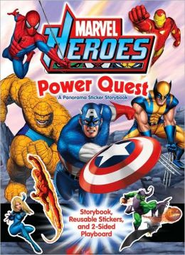 Marvel Heroes Power Quest: A Panorama Sticker Storybook