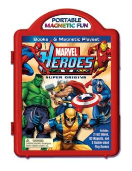 Marvel Heroes Super Origins Book and Magnetic Playset