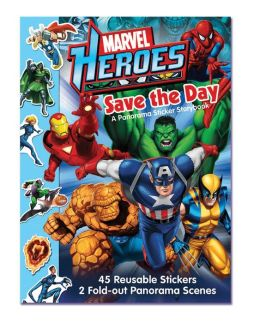 Marvel Heroes Save the Day: A Panorama Sticker Storybook