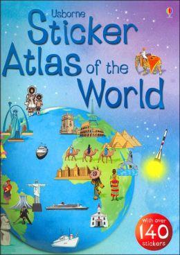 Usborn Sticker Atlas of the World