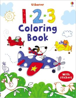 123 Coloring Book with Stickers