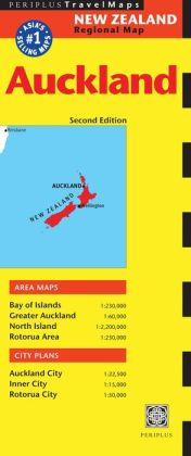 Auckland Travel Map Second Edition