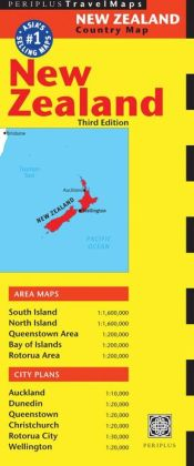 New Zealand Travel Map Third Edition