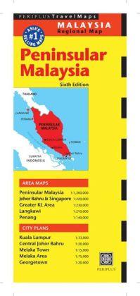 Peninsular Malaysia Travel Map Sixth Edition