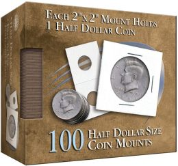 Half-Dollar 2X2 Coin Mounts Cube, 100 Count