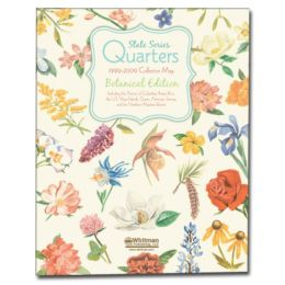 State Series Quarters 1999-2009 Collector Map Botanical Edition