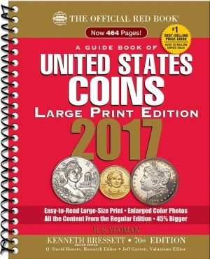 The Official Red Book, A Guide Book of United States Coins Large Print 2017
