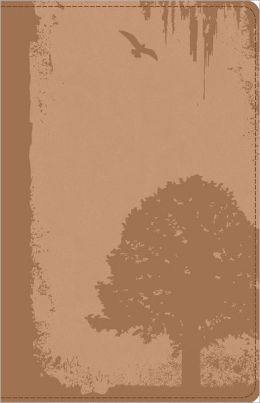God Guy Bible Vintage Brown, Grunge Tree Design Duravella