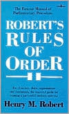 Robert's Rules of Order