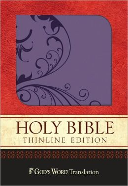 GW Thinline Bible Purple Shimmer, Vine Design Duravella