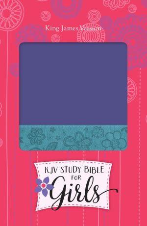KJV Study Bible for Girls Grape/Surf Blue, Floral Design Duravella