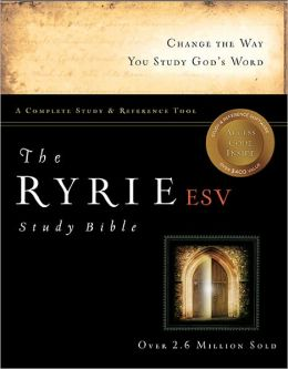 The Ryrie ESV Study Bible Hardcover- Red Letter