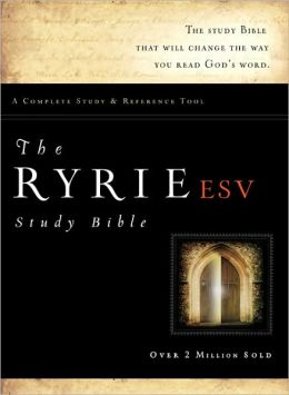 The Ryrie ESV Study Bible Genuine Leather Burgundy- Red Letter Indexed