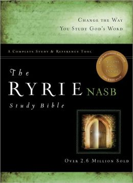 The Ryrie NAS Study Bible Genuine Leather Burgundy Red Letter Indexed