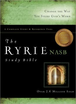 Ryrie NASB Study Bible Hardcover- Red Letter Indexed