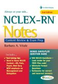Book Cover Image. Title: NCLEX-RN Notes:  Content Review & Exam Prep, Author: Barbara Vitale