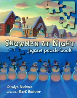 Snowmen at Night Jigsaw Puzzle Book