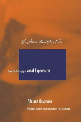 For More Than One Voice: Towards a Philosophy of Vocal Expression