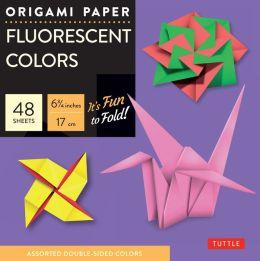 Origami Paper Fluorescent 6 3/4