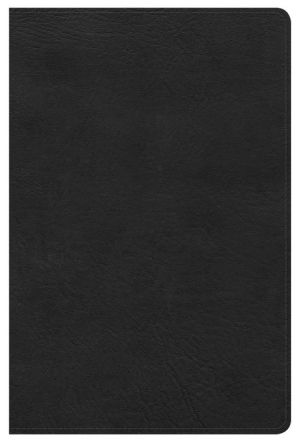 HCSB Ultrathin Reference Bible, Black LeatherTouch, Indexed