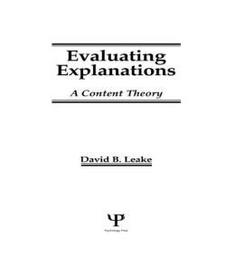 Evaluating Explanations: A Content Theory