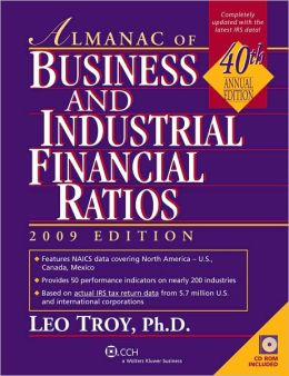 Almanac of Business and Industrial Ratios 2009