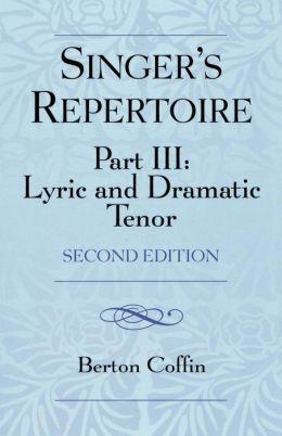 Singer's Repertoire, Part Iii