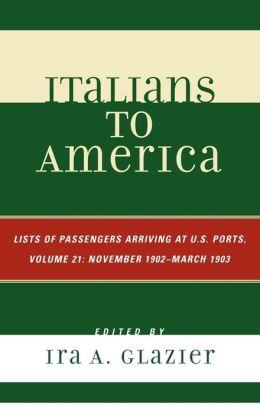 Italians To America, Volume 21